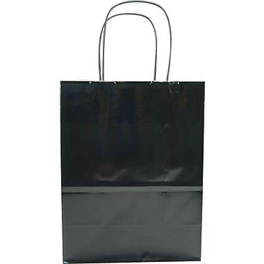 Sac à provisions en papier de couleur, noir, petit, bte/250