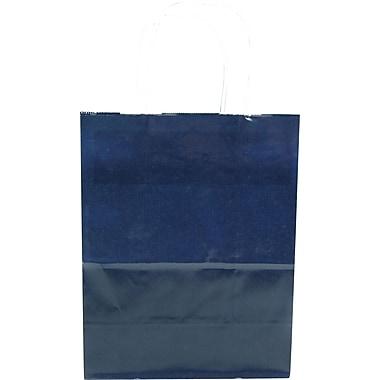 Colour Paper Shopper, Navy Blue, Petite, 250/case