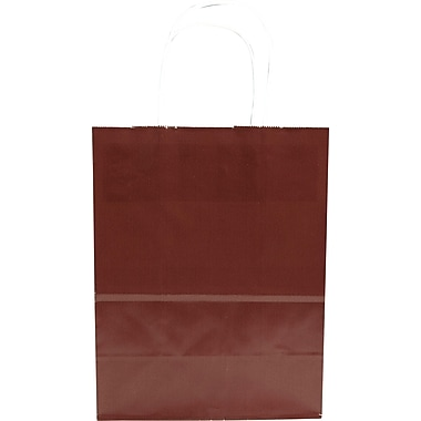Sac à provisions en papier de couleur, chocolat, petit, bte/250