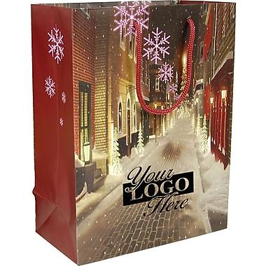 Gunther Mele Ltd. Christmas Village Laminated Reusable Bag, 100/Case