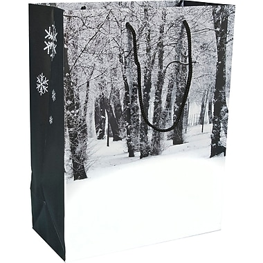 Gunther Mele Ltd. Winter Forest Paper Shopper, 100/Case