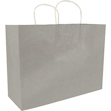 Sac à provisions en papier de couleur, argenté, Saville, bte/200