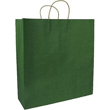Sac à provisions en papier de couleur, vert forêt, mode, bte/250