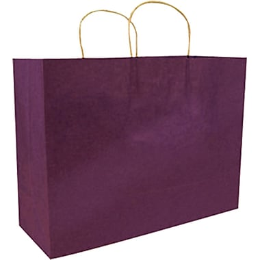 Colour Paper Shopper, Plum, Fashion, 250/case