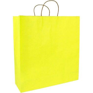 Colour Paper Shopper, Yellow Pinstripe, Saville, 200/case