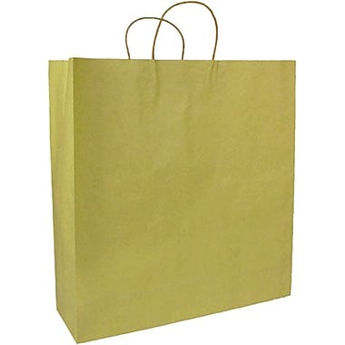 Colour Paper Shopper, Gold, Saville, 200/Box
