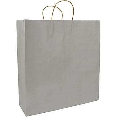 Sac à provisions en papier de couleur, argenté, Fashion, bte/250