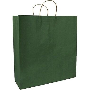 Sac à provisions en papier de couleur, vert forêt, Saville, bte/200