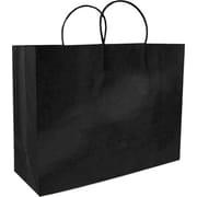 Sac à provisions en papier de couleur, noir, mode, bte/200