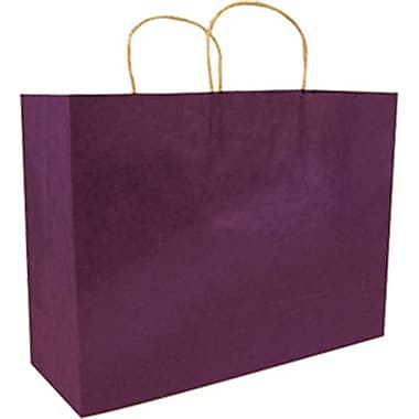 Colour Paper Shopper, Plum, Saville, 200/Box