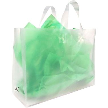 Sac à provisions transparent givré oxo-biodégradable, 16 x 6 x 12 x 6 (po), bte/250