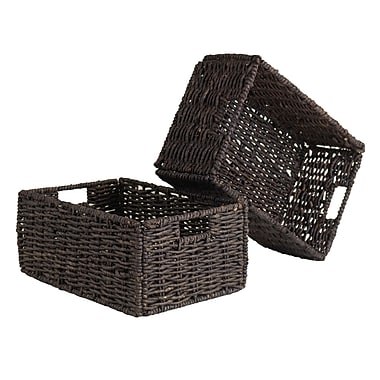 Winsome Granville Foldable Baskets, Medium, 2/Pack