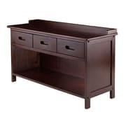 Winsome Adriana 3-Drawer Bench with Storage