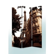 Screen Gems 72'' x 48'' Paris Screen 3 Panel Room Divider