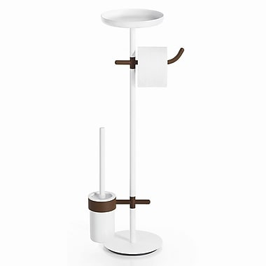 WS Bath Collections Complements Free Standing Toilet Paper Holder; Rust