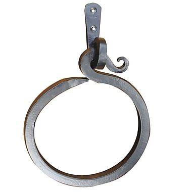 Artesano Iron Works Wall Mounted Towel Ring; Antique Gold