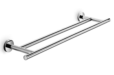 WS Bath Collections Spritz Double Wall Mounted Towel Bar