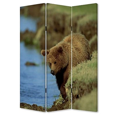 Screen Gems 72'' x 48'' Bear 3 Panel Room Divider