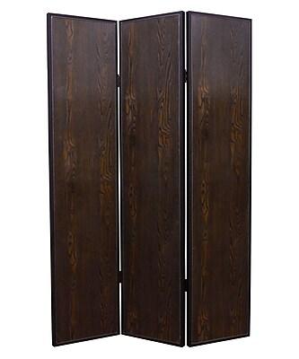 Screen Gems 71'' x 52'' Criss Cross 3 Panel Room Divider