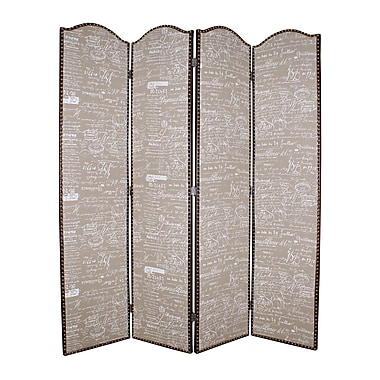 Screen Gems 84'' x 80'' Galore 4 Panel Room Divider