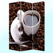 Screen Gems 72'' x 48'' Coffee Time 3 Panel Room Divider