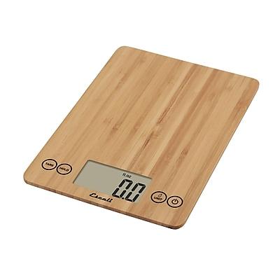 Escali Arti Glass Digital Scale, 15 Lb 7 Kg, Bamboo