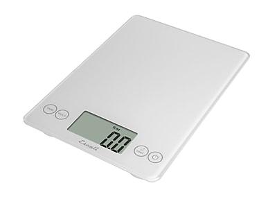 Escali Arti Glass Digital Scale, 15 Lb 7 Kg, White