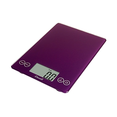 Escali Arti Glass Digital Scale, 15 Lb 7 Kg, Deep Purple