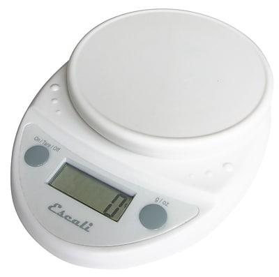 Escali Primo Digital Scale, 11 Lb 5 Kg, White