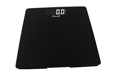 Escali Glass Platform Bathroom Scale, Black, 440 Lb 200 Kg