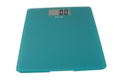 Escali Glass Platform Bathroom Scale, Peacock Blue, 440 Lb 200 Kg