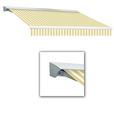 Awntech® Destin® LX Manual Retractable Awning, 10' x 8', Yellow/White