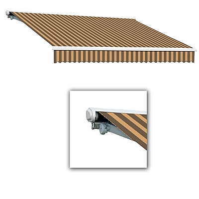 Awntech® Galveston® Right Motor Retractable Awning, 8' x 7', Brown/Tan