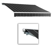 "Awntech® Galveston® Right Motor Retractable Awning, 18' x 10' 2"", Gun Pinstripe"