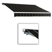 "Awntech® Galveston® Right Motor Retractable Awning, 18' x 10' 2"", Black Pinstripe"