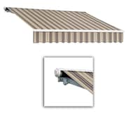 """Awntech® Galveston® Right Motor Retractable Awning, 16' x 10' 2"""", Taupe Multi"""