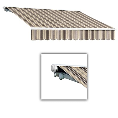 Awntech® Galveston® Right Motor Retractable Awning, 10' x 8', Taupe Multi