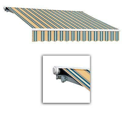 Awntech® Galveston® Manual Retractable Awning, 8' x 7', Tan/Teal