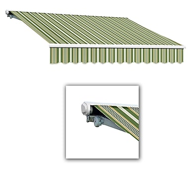 Awntech® Galveston® Manual Retractable Awning, 10' x 8', Forest/Gray/Tan