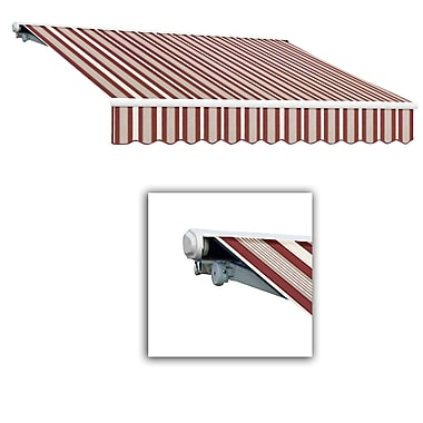 Awntech® Galveston® Left Motor Retractable Awning, 8' x 7', Burgundy/Gray/White