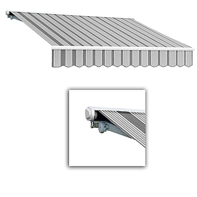 Awntech® Galveston® Left Motor Retractable Awning, 8' x 7', Gun/Gray/White