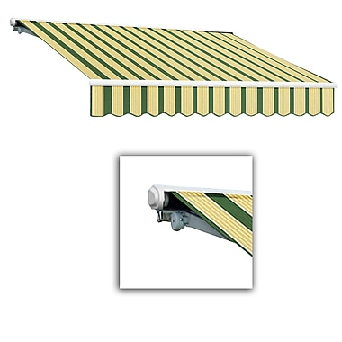 Awntech® Galveston® Left Motor Retractable Awning, 10' x 8', Forest/Tan