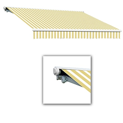 Awntech® Galveston® Left Motor Retractable Awning, 10' x 8', Yellow/White