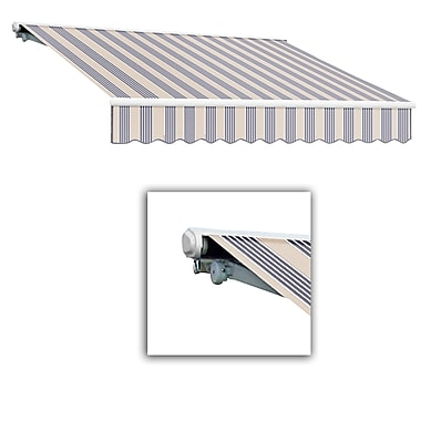 Awntech® Galveston® Left Motor Retractable Awning, 8' x 7', Dusty Blue Multi