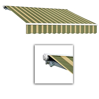 Awntech® Galveston® Manual Retractable Awning, 10' x 8', Olive/Tan