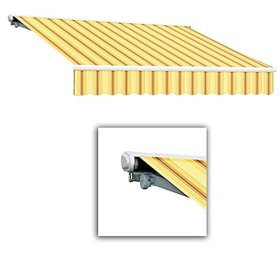 Awntech® Galveston® Right Motor Retractable Awning, 8' x 7', Light Yellow/Terra