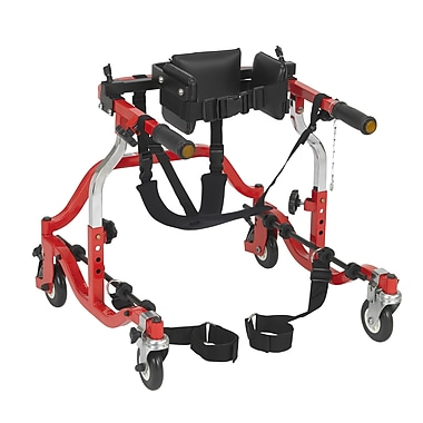Wenzelite Comet Anterior Gait Trainer, Red, Pediatric