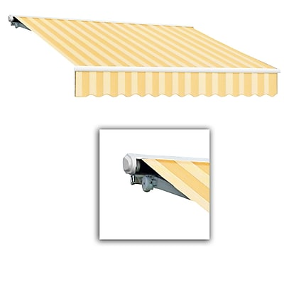 Awntech® Galveston® Right Motor Retractable Awning, 8' x 7', Almond Multi