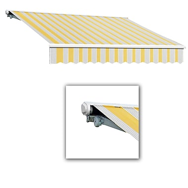 Awntech® Galveston® Left Motor Retractable Awning, 8' x 7', Light Yellow/Gray