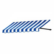"Awntech® 6' Dallas Retro® Window/Entry Awning, 16"" x 30"", Bright Blue/White"